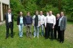 Dr. Guido Fischermanns, die Prüflinge und ich (von rechts nach links)