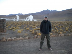 Me in front of the El Tatio geysers