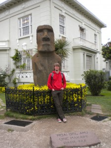 Unfortunately not on the easter islands, just in front of a museum of it